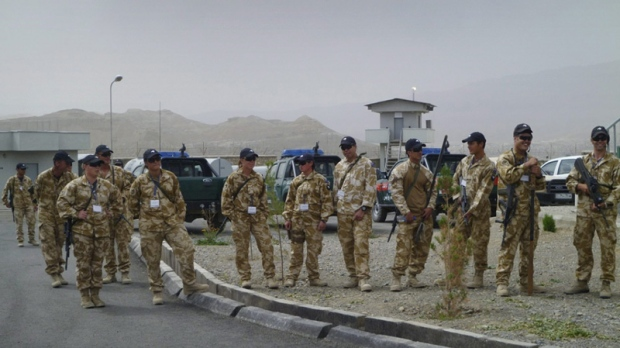 New Zealand soldiers of the NATO-led ISAF in Bamiyan, Afghanistan on July 17, 2011.