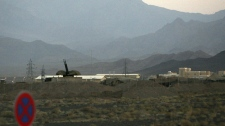 An anti-aircraft gun position is seen in Natanz, Iran in this Sept, 2007 photo.
