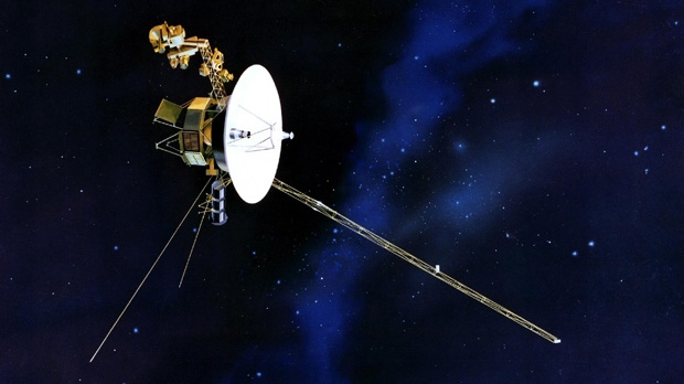 This artist's rendering provided by NASA shows the Voyager spacecraft. (NASA)