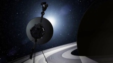 This artists rendering provided by NASA shows the Voyager spacecraft. (NASA)