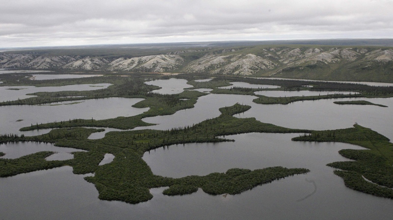 In this Aug. 10, 2009 photo, the Mackenzie River Delta, in Northwest Territories, Canada, is shown.