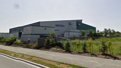 Workers were exposed to an unknown gas on Monday, Sept. 6, 2010, at the Wastech plant in Surrey, B.C. (Google Maps)