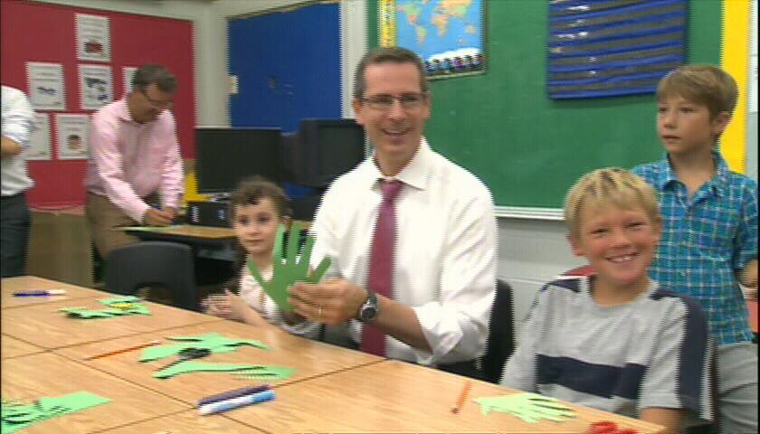 Ontario Premier Dalton McGuinty speaks at a school in Toronto on Tuesday, Sept. 4, 2012.