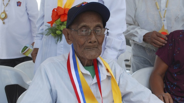 Filipino veteran Alfonso Fabros in Tarlac province, northern Philippines on April 10, 2012.