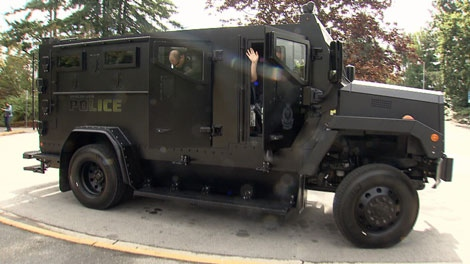 The Vancouver Police Department introduces its new armoured rescue vehicle. Sept. 7, 2010. (CTV)