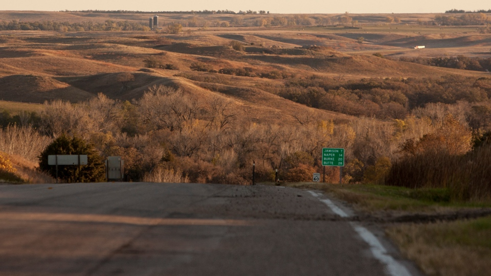 This Oct. 13, 2010, file photo shows the Sandhills near Mills, Neb., an environmentally sensitive area which TransCanada had planned to build a pipeline through to transport crude oil from Canada to the Gulf Coast. (AP/Nati Harnik, File)