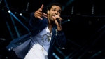 Drake performs at the Made In America music festival on Sunday, Sept. 2, 2012, in Philadelphia. (Charles Sykes / Invision)
