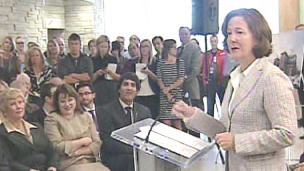 Premier Alison Redford was at the South Health Campus on Thursday to officially open the city's newest hospital, the largest in the province.