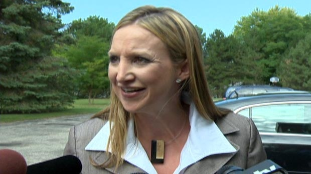 PC candidate Tracey Weiler is seen in her Kitchener-Waterloo riding on Thursday, Sept. 6, 2012.