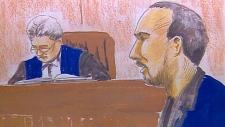 Steven Heer, court sketch