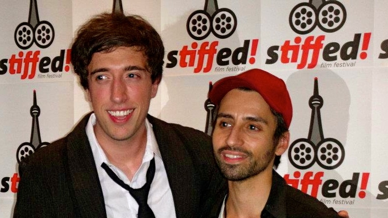 Filmmakers and Stiffed Festival founders Michael Laicini (left) and David Amito.