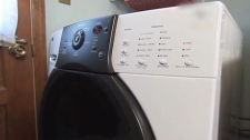 Olsen investigates how to stop front-loading washing machines from vibrating. Sept. 10, 2010. (CTV)