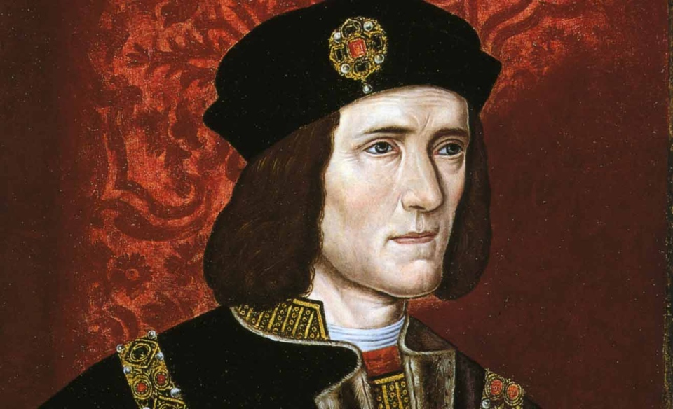 King Richard III is seen in this painting.