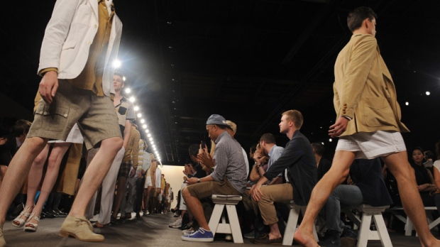 Models on the runway at the Billy Reid Spring 2013 show in NYC on Sept. 7, 2012.
