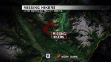 The area being searched for missing hikers Rachael Bagnall and Jonathan Jette. Sept. 10, 2010. (CTV)