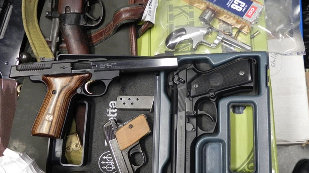 RCMP seized 23 guns from a home in The Pas. (photo provided by The Pas RCMP)