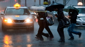 Heavy rains were expected to batter Montreal Saturday. (CP file photo).