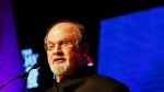 Indian-born author Salman Rushdie shown in this file photo. (AP Photo/India Today Conclave)