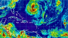 Tropical storms Leslie and Michael