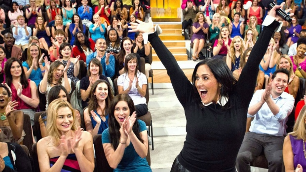Ricki Lake with her audience during the first day of taping for her new daytime talk show, 'The Rick