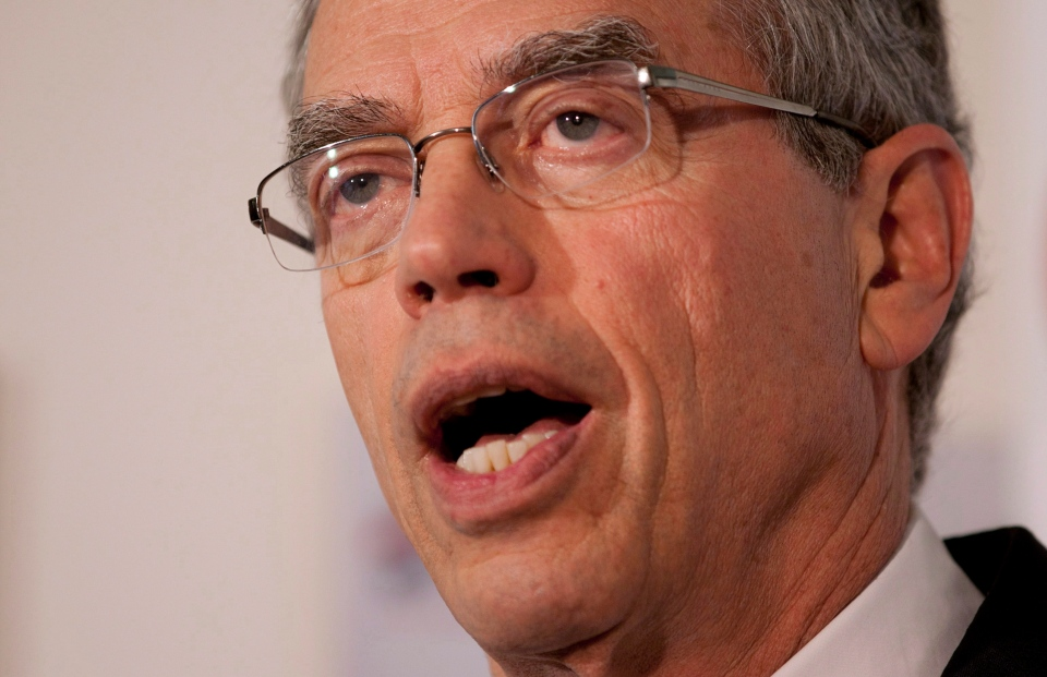 Joe Oliver speaks during a news conference in Gatineau, Que., on Monday, June 4, 2012. (Adrian Wyld / THE CANADIAN PRESS)