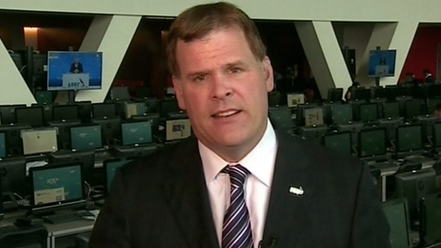 Foreign Affairs Minister John Baird appears on CTV's Question Period, Sunday, Sept. 9, 2012.