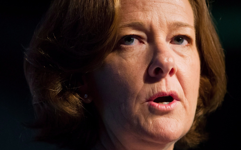 Alberta Premier Alison Redford is facing controversy over the $45,000 she and an aide spent to travel to South Africa for Nelson Mandela's funeral. (CP / Darryl Dyck)