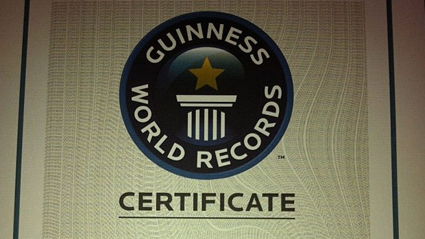 The Lacombe Corn Maze posted a photo of the Guinness World Records certificate for the world's largest QR code to their Facebook page. PHOTO: Lacombe Corn Maze/Facebook.
