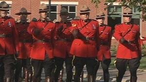 The memorial included a parade of regular members, auxiliary members, cadets and veterans on Sleigh Square in honour of the RCMP members who have died since 1876.