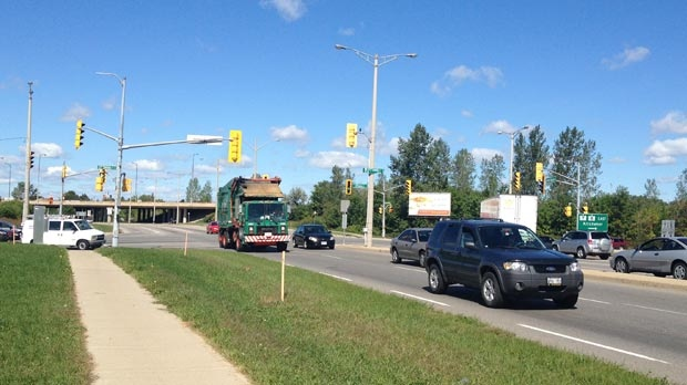 The intersection of Ottawa Street and Homer Watson Boulevard is seen in Kitchener, Ont. on Monday, Sept. 10, 2012.