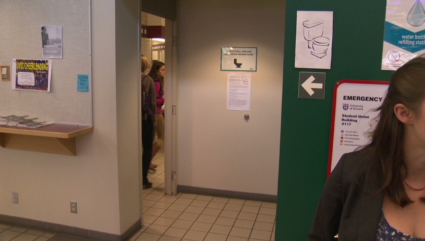 The University of Victoria has converted two washrooms into co-ed washrooms in the name of fighting discrimination.
