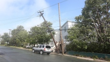 Post-tropical storm Leslie belts Newfoundland