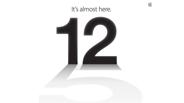 Apple's media invitation to the Sept. 12, 2012 event.