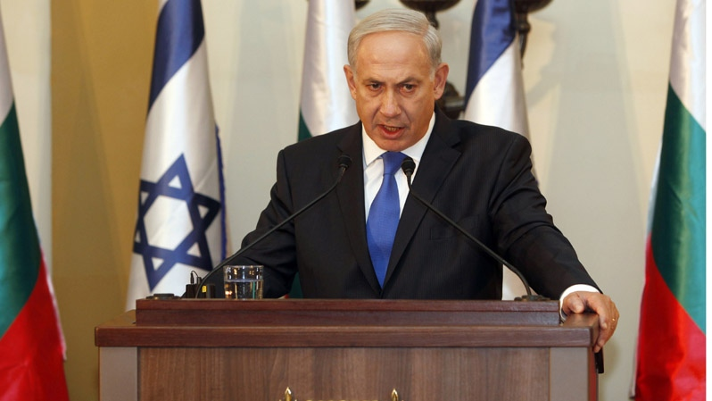 Israeli Prime Minister Benjamin Netanyahu speaks during a press conference in Jerusalem, on Sept. 11, 2012. (AP /Gali Tibbon)