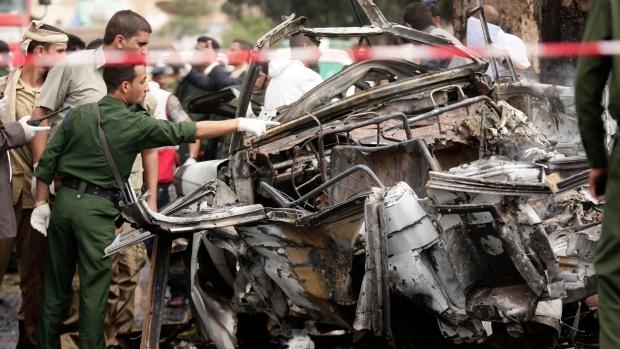Car bomb attack, motorcade, Sanaa, Yemen