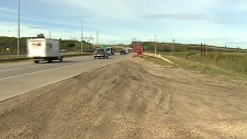 Fake Cop, anthony henday drive at cameron heights overpass