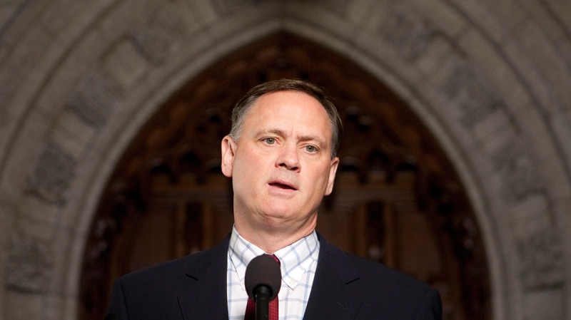 Liberal House Leader David McGuinty speaks with the media about the gun registry outside the House of Commons on Parliament Hill in Ottawa, Tuesday, Sept 14, 2010. (Adrian Wyld / THE CANADIAN PRESS)