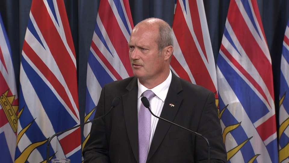 B.C. Finance Minister Mike de Jong announced B.C. faces a growing deficit and budget cuts on Thursday, Sept. 13, 2012. (CTV)
