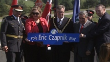 'Eric Czapnik Way,' honouring the late officer