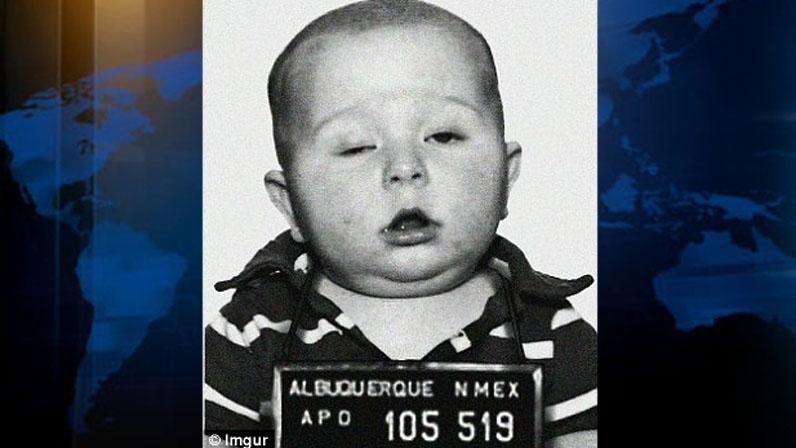 A Vancouver baby is becoming an internet meme after his dad posted his botched passport photo online. Sept. 14, 2012. (imgur)