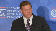 Foreign Affairs Minister John Baird in oOntreal