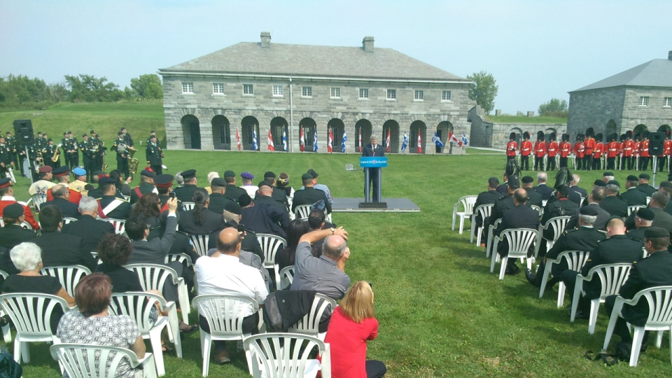 Stephen Harper commemorates the war of 1812 in St. Paul Ile aux Noix, Quebec (CTV Montreal/Marc Latendresse, Sept. 14, 2012)