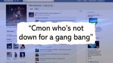 Insensitive comments about the victim of an alleged gang-bang at a B.C. rave proliferated on Facebook. Sept. 16, 2010. (CTV)
