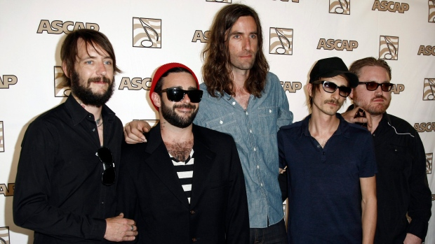 Band of Horses, from left Ben Bridwell, Creighton Barrett, Tyler Ramsey, Bill Reynolds and Ryan Monr