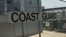 Coast guard sit in