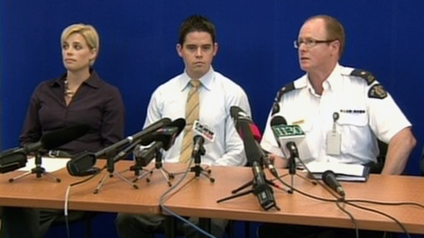 RCMP officers update reporters during a press conference in Maple Ridge, B.C., Thursday, Sept. 16, 2010.