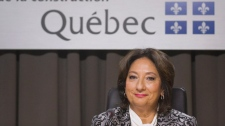 Justice France Charbonneau in Montreal on May 22, 2012.