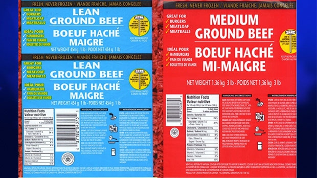 Canadian Food Inspection Agency recalls Edmonton-based XL Foods ground beef