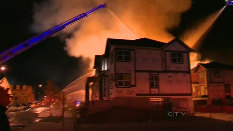McKenzie Towne fire rages