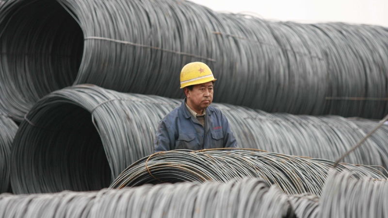 A steel wholesale market in Shenyang, Liaoning, China on March 1, 2007.